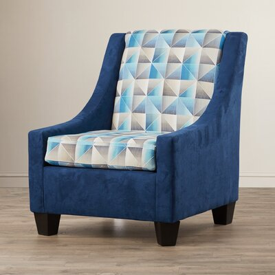 Belinda Armchair Color: Blue