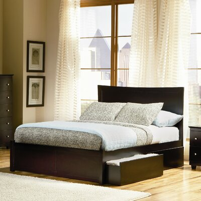 Amy Platform Bed Size: King, Color: Espresso