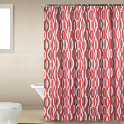 Buxton Boutique Shower Curtain Set Color: Red