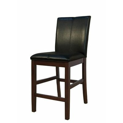 Woolery 24 Bar Stool (Set of 2) Upholstery: Black