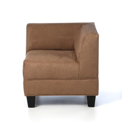 Bond Corner Side Chair Upholstery: Mocha