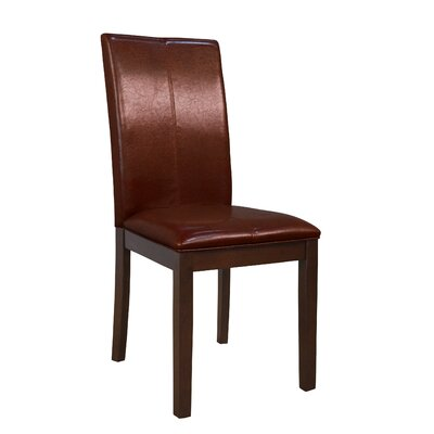 Dixon Side Chair (Set of 2) Upholstery: Red