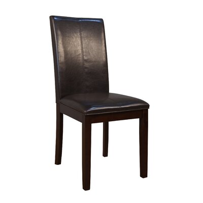 Dixon Side Chair (Set of 2) Upholstery: Brown