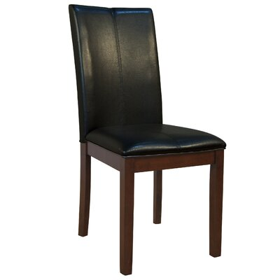 Woolery Side Chair (Set of 2) Upholstery: Black