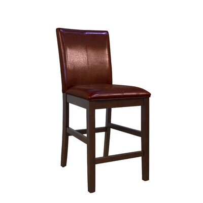 Dixon 24 inch Bar Stool (Set of 2) Upholstery: Red