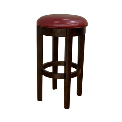 Woolery 30 Swivel Bar Stool (Set of 2) Upholstery: Red