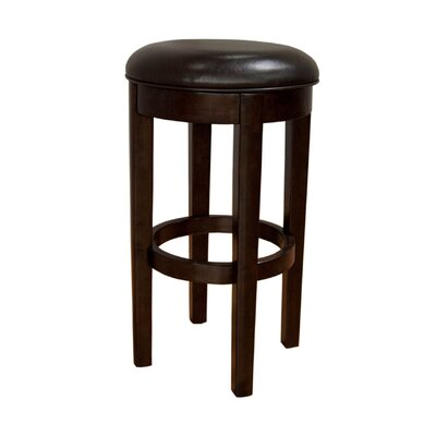 Woolery 30 Swivel Bar Stool (Set of 2) Upholstery: Brown Bonded