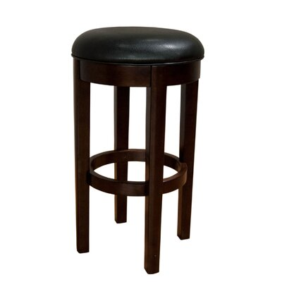Woolery 30 Swivel Bar Stool (Set of 2) Upholstery: Black
