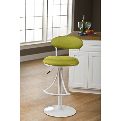 Clarence 24 inch Swivel Bar Stool with Cushion Upholstery Color: Apple Fabric