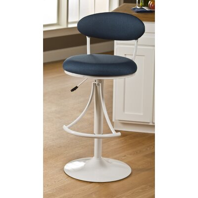 Clarence 24 Swivel Bar Stool with Cushion Upholstery Color: Denim Fabric