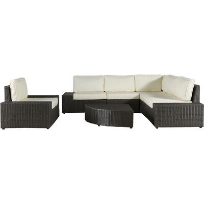 Riam 7 Piece Seating Group with Cushion Finish: Grey