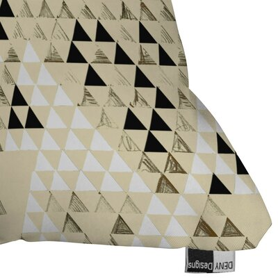Carlton Triangle Standard Outdoor Throw Pillow Size: 18 H x 18 W x 5 D