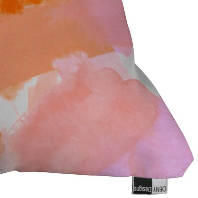 Currans Covered in Blush Outdoor Throw Pillow Size: 16