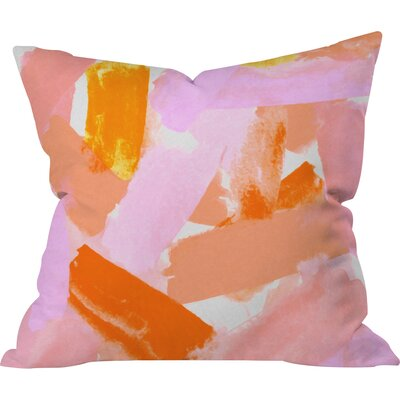 Currans Covered in Blush Outdoor Throw Pillow Size: 18 H x 18 W x 5 D