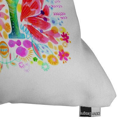 Syden Oh Joy Outdoor Throw Pillow Size: 16 H x 16 W x 4 D