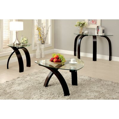 Burkeville 3 Piece Coffee Table Set