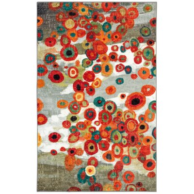 Burwood Tossed Floral Multi Printed Area Rug Rug Size: Rectangle 2'6
