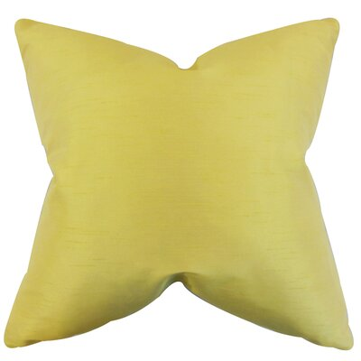 Lindfield Throw Pillow Color: Yellow, Size: 20 H x 20 W
