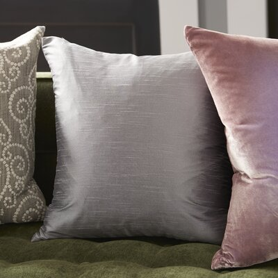 Lindfield Throw Pillow Color: Silver, Size: 18 H x 18  W