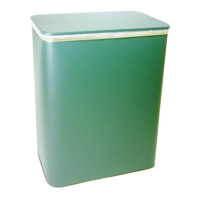 Maura Diamond Pattern Laundry Sorter Color: Green with Silver Mylar Trim