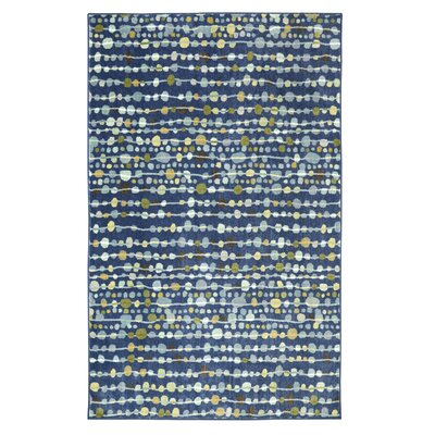 Goose Point Navy Area Rug