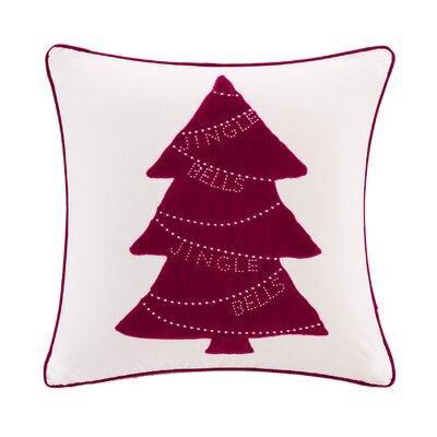 Iroh Jingle Bells Tree Cotton Throw Pillow