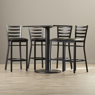 Deloris 5 Piece Pub Table Set Color: Mahogany