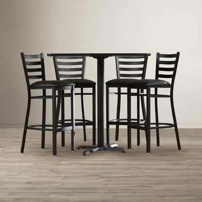 Rylee 5 Piece Pub Table Set Color: Mahogany