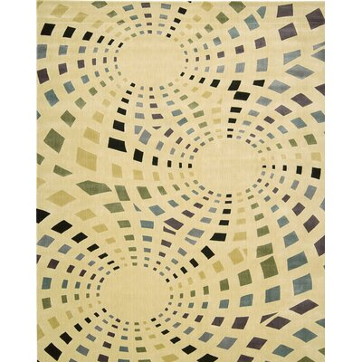 Beige Area Rug Rug Size: Rectangle 23 x 39