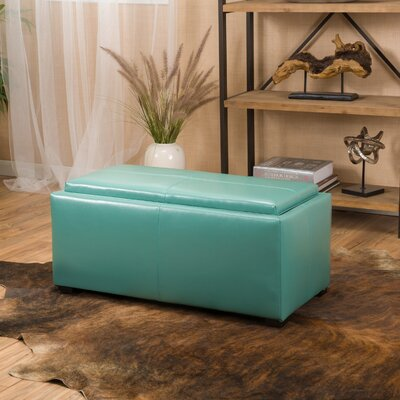 Kegan 3 Piece Lift Top Ottoman Set Upholstery: Turquoise