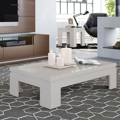 Belwood 2 Piece Coffee Table Set Finish: Off White