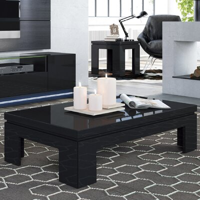 Belwood 2 Piece Coffee Table Set Finish: Black Gloss