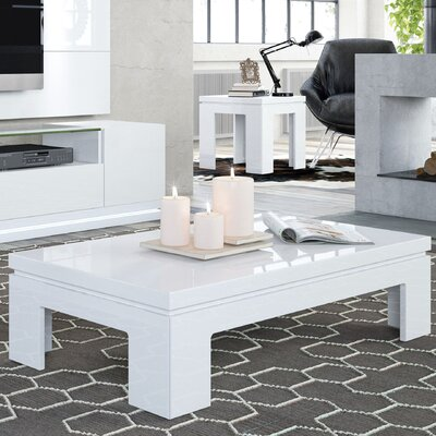 Belwood 2 Piece Coffee Table Set Finish: White Gloss