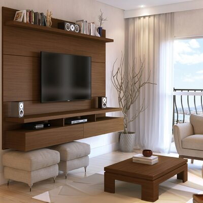 Boone Entertainment Center Color: Nut Brown, Width of TV Stand: 63.42 H x 86.5 W x 14.92 D