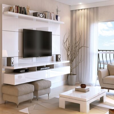 Boone Entertainment Center Color: White Gloss, Width of TV Stand: 63.42 H x 86.5 W x 14.92 D