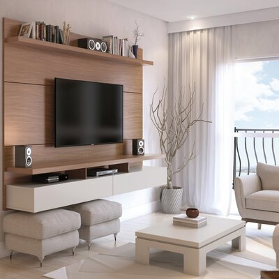 Boone Entertainment Center Color: Maple Cream / Off White, Width of TV Stand: 63.42 H x 72.32 W x 14.92 D