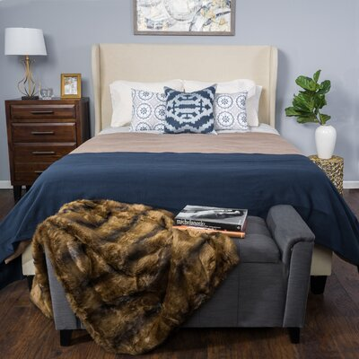 Beaumont Upholstered Panel Bed Size: King