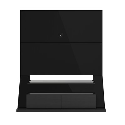 Fairmont Entertainment Center Color: Black Gloss