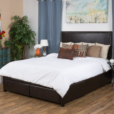 Fontana Upholstered Storage Panel Bed Size: King