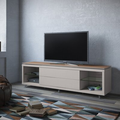 Franklin 77-95 TV Stand Color: Maple Cream / Off White, Width of TV Stand: 21.22 H x 85.43 W x 17.63 D