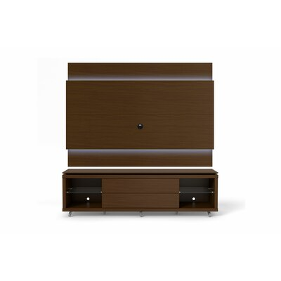 Franklin 77-95 TV Stand Color: Nut Brown, Width of TV Stand: 74.44 H x 94.48 W x 17.63 D