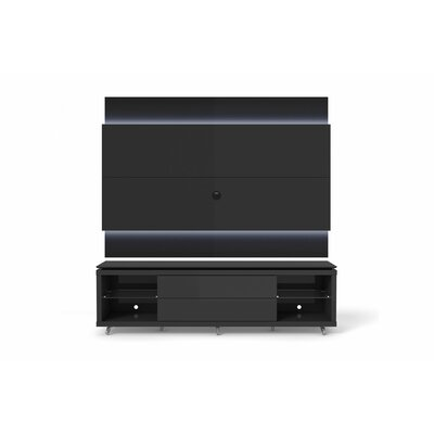 Franklin 77-95 TV Stand Color: Black Gloss / Black Matte, Width of TV Stand: 74.44 H x 94.48 W x 17.63 D