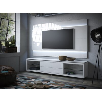 Franklin 77-95 TV Stand Color: White Gloss, Width of TV Stand: 74.44 H x 94.48 W x 17.63 D