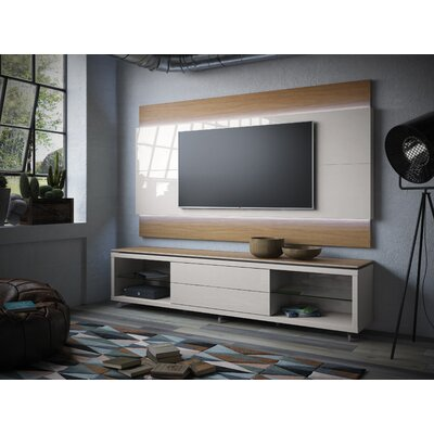 Franklin 77-95 TV Stand Color: Maple Cream / Off White, Width of TV Stand: 74.44 H x 94.48 W x 17.63 D
