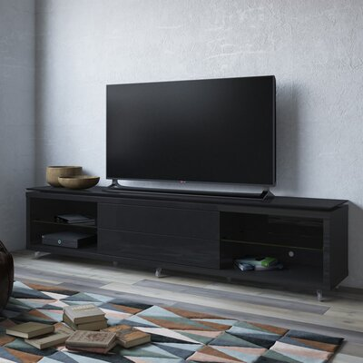 Franklin 77-95 TV Stand Color: Black Gloss / Black Matte, Width of TV Stand: 21.22 H x 76.77 W x 17.44 D