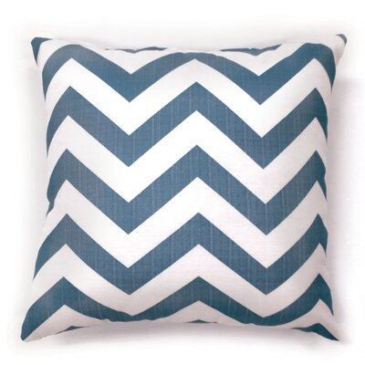 Orrum Chevron Throw Pillow Size: Large, Color: Blue