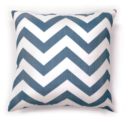 Orrum Chevron Throw Pillow Size: Small, Color: Blue