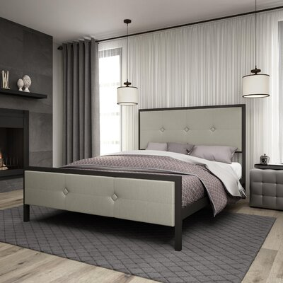 Pembroke Upholstered Panel Bed Size: Queen
