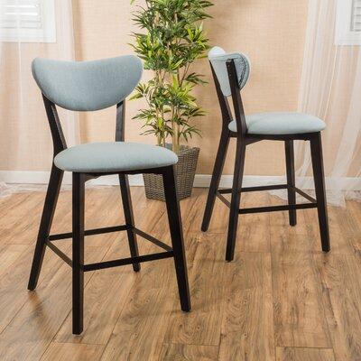 24.5 inch Bar Stool Upholstery: Ocean Blue