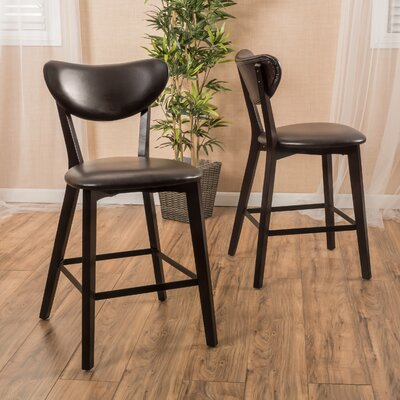 Tabor 24.5 Bar Stool Upholstery: Brown